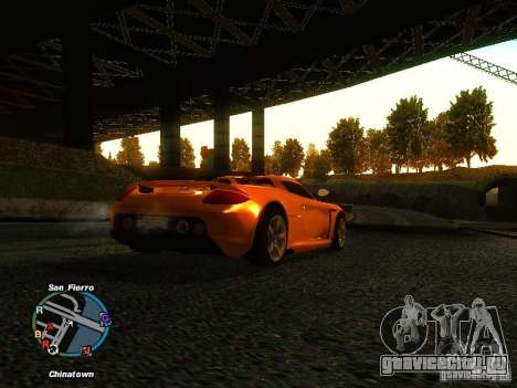 Porsche Carrera GT 2003 для GTA San Andreas вид сзади слева