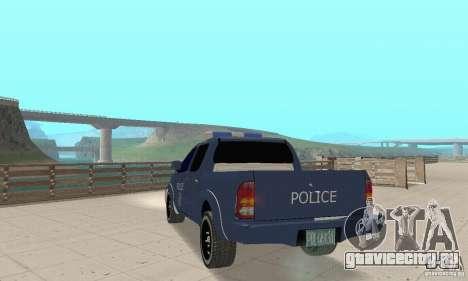 Toyota Hilux Somaliland Police для GTA San Andreas вид слева