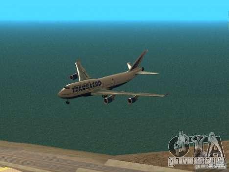 Boeing 747-400 для GTA San Andreas вид сверху