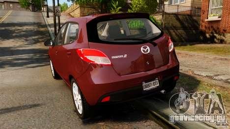Mazda 2 2011 для GTA 4 вид сзади слева