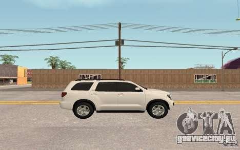 Toyota Sequoia 2011 для GTA San Andreas вид справа