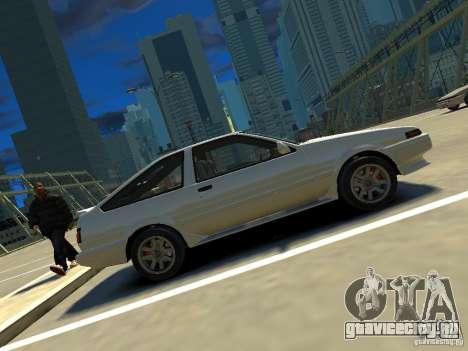 Toyota Corolla AE86 EPM v3.0 для GTA 4 вид слева