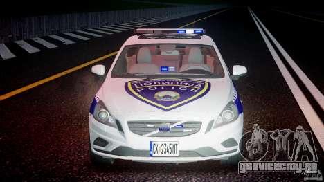 Volvo S60 Macedonian Police [ELS] для GTA 4 вид сверху