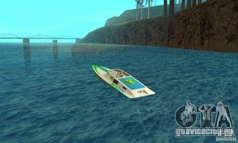 Speed Motorboat для GTA San Andreas вид сзади слева