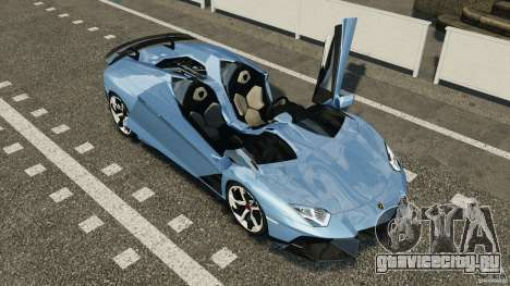 Lamborghini Aventador J 2012 для GTA 4 вид сверху