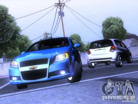 Chevrolet Aveo LT для GTA San Andreas вид сзади