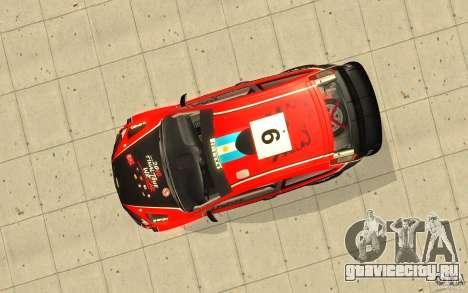 Ford Focus RS WRC 08 для GTA San Andreas двигатель