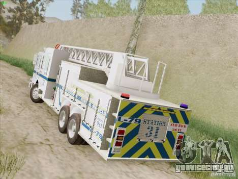 Pierce Puc Aerials. Bone County Fire & Ladder 79 для GTA San Andreas вид справа