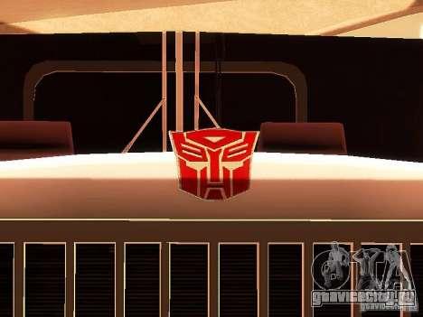 Truck Optimus Prime v2.0 для GTA San Andreas вид сбоку