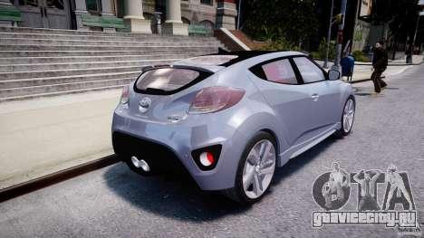 Hyundai Veloster Turbo 2012 для GTA 4 вид сзади слева
