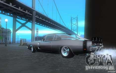 Dodge Charger RT 69 для GTA San Andreas вид сзади слева