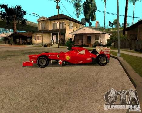Ferrari Scuderia F2012 для GTA San Andreas вид слева