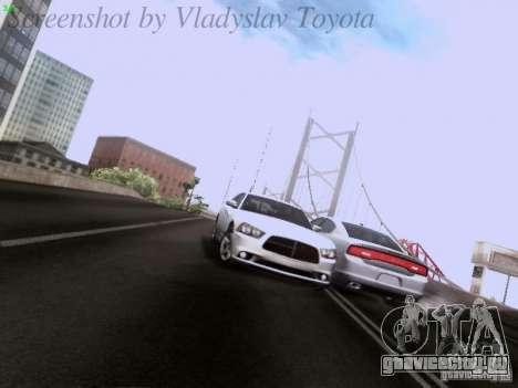 Dodge Charger 2013 для GTA San Andreas вид снизу