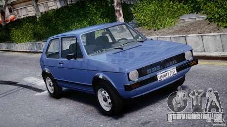 Volkswagen Golf Mk1 для GTA 4 вид сверху
