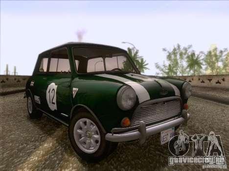 Austin Cooper S 1965 для GTA San Andreas вид снизу