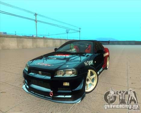 Nissan Skyline GT-R R34 M-Spec Nur для GTA San Andreas салон