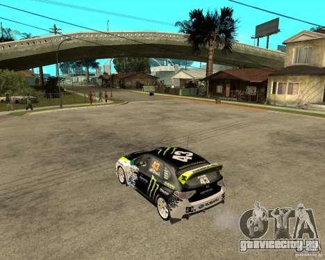 Ken Block Subaru Impreza WRX STi 2009 для GTA San Andreas вид слева