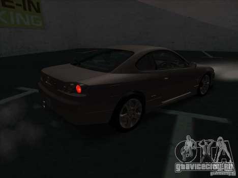 Nissan Silvia S15 Tunable KIT C1 - TOP SECRET для GTA San Andreas вид сзади слева