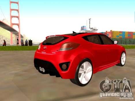 Hyundai Veloster Turbo v1.0 для GTA San Andreas вид слева