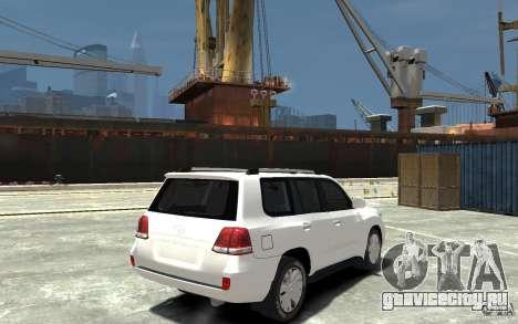 Toyota Land Cruiser 200 для GTA 4 вид справа