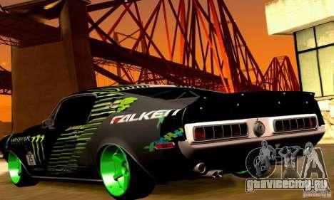 Shelby GT500 Monster Drift для GTA San Andreas колёса