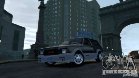 GMC Typhoon 1993 v1.0 для GTA 4 вид сзади
