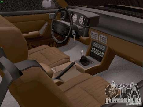 Ford Mustang GT 5.0 Convertible 1987 для GTA San Andreas вид изнутри