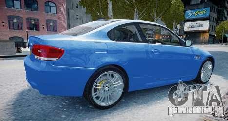 BMW M3 E92 2008 v.2.0 для GTA 4 вид слева