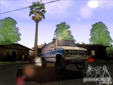 Chevrolet VAN G20 NYPD SWAT для GTA San Andreas вид сбоку