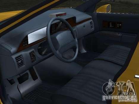 Chevrolet Caprice 1993 Taxi для GTA San Andreas вид сзади