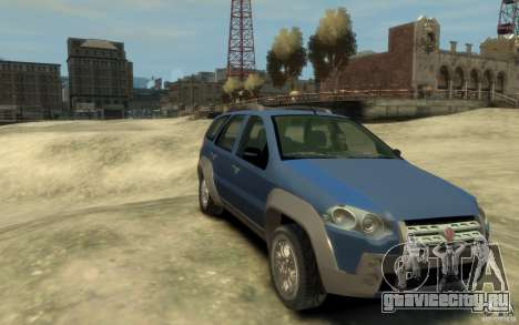 Fiat Palio Adventure Locker для GTA 4 вид сзади