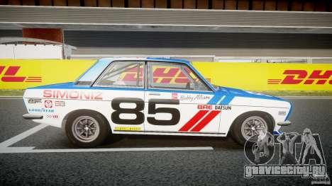 Datsun Bluebird 510 1971 BRE для GTA 4 вид сзади