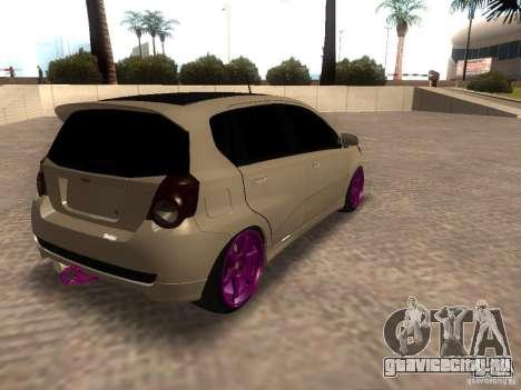 Chevrolet Aveo Tuning для GTA San Andreas вид слева