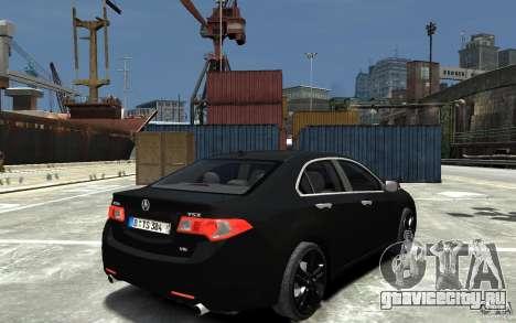 Acura TSX 2011 для GTA 4 вид справа