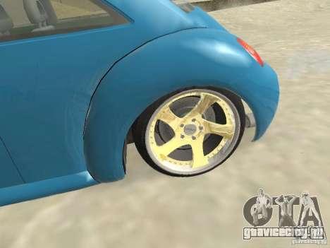 VW Beetle 2004 для GTA San Andreas вид сзади слева