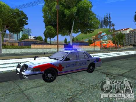 Ford Crown Victoria Police Patrol для GTA San Andreas вид сзади