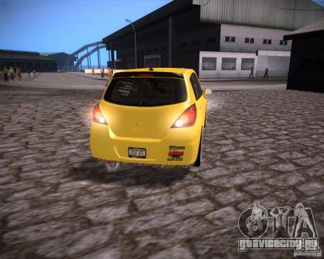 Nissan Versa Tuned для GTA San Andreas вид справа