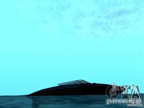 Squalo из Grand Theft Auto IV для GTA San Andreas вид сзади слева