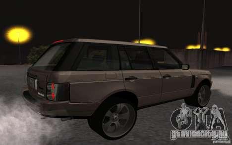 Land Rover Supercharged для GTA San Andreas вид справа