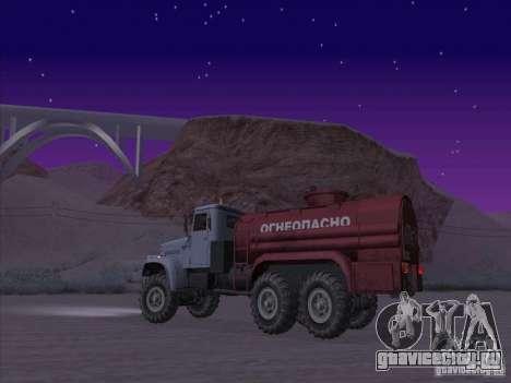 КрАЗ-255 Бензовоз для GTA San Andreas вид слева
