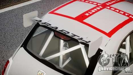 Fiat 500 Abarth для GTA 4 вид снизу