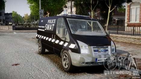 Ford Transit SWAT [ELS] для GTA 4 вид справа