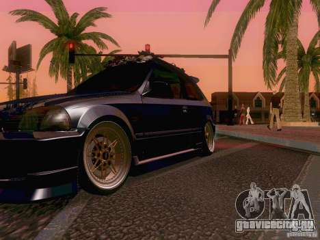 Honda Civic JDM Hatch для GTA San Andreas вид сверху