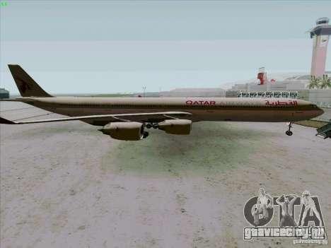 Airbus A-340-600 Quatar для GTA San Andreas вид слева