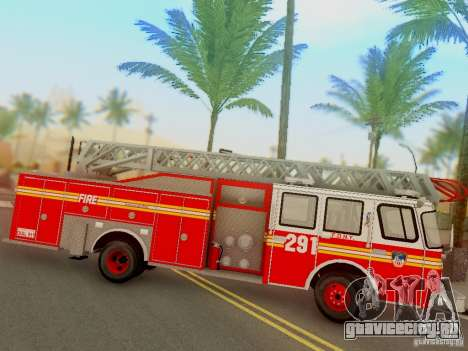 E-One FDNY Ladder 291 для GTA San Andreas вид справа