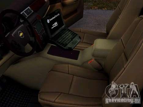 Chevrolet Tahoe Homeland Security для GTA 4 вид сзади