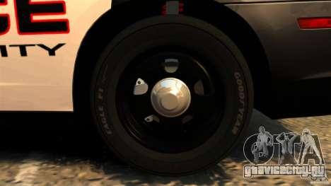 Dodge Charger RT Max Police 2011 [ELS] для GTA 4 вид снизу