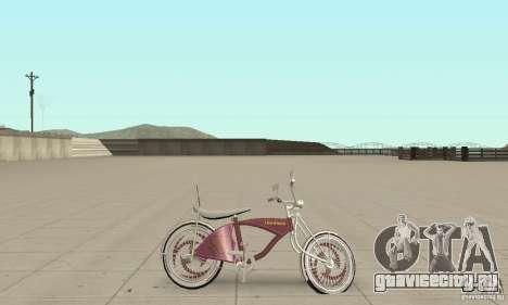 Lowrider Bicycle Custom Version для GTA San Andreas вид сзади слева