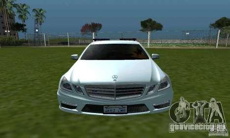 Mercedes-Benz E63 ДПС для GTA San Andreas вид изнутри