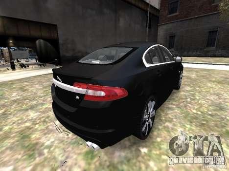Jaguar XFR для GTA 4 вид сзади